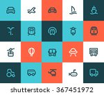 transportation icons. flat style | Shutterstock .eps vector #367451972