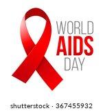 world aids day. 1st december... | Shutterstock .eps vector #367455932