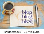 blog  blog  blog   blogging... | Shutterstock . vector #367461686