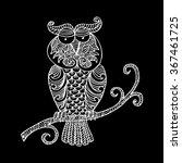 vector tribal decorative owl.  | Shutterstock .eps vector #367461725
