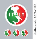 italy map and flag  italian... | Shutterstock .eps vector #367463102