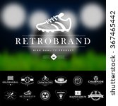 set of vintage sport badges and ... | Shutterstock .eps vector #367465442