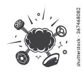 explosion icon | Shutterstock .eps vector #367468082