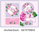 wedding invitation card suite... | Shutterstock .eps vector #367470842