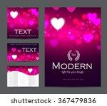 happy valentines day flyer ... | Shutterstock .eps vector #367479836