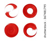 set of red round element for... | Shutterstock .eps vector #367481795