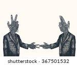 the scissors of democracy cuts... | Shutterstock .eps vector #367501532