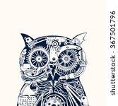 robotic owl head. | Shutterstock .eps vector #367501796