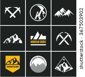 mountains vector. climbing.... | Shutterstock .eps vector #367503902