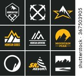mountain icons set. mountain... | Shutterstock .eps vector #367503905