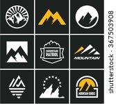 mountain icons set. mountain... | Shutterstock .eps vector #367503908