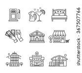 commercial buildings sings set. ... | Shutterstock .eps vector #367507766