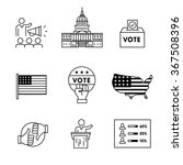 elections  campaign and voting... | Shutterstock .eps vector #367508396