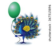 greeting card with peacock.... | Shutterstock .eps vector #367515896