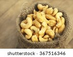 closeup of sack of cashew nuts... | Shutterstock . vector #367516346