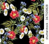 summer bouquet  watercolor.... | Shutterstock . vector #367520828