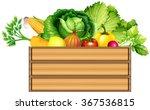 fresh vegetables in a box... | Shutterstock .eps vector #367536815