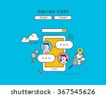 simple color line flat design... | Shutterstock .eps vector #367545626