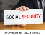 social security  message on... | Shutterstock . vector #367548488