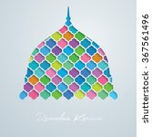 mosque dome vector colorful... | Shutterstock .eps vector #367561496