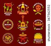 mexican ethnic cuisine logos ...   Shutterstock .eps vector #367562552