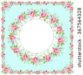 Beautiful Floral Round Greeting ...