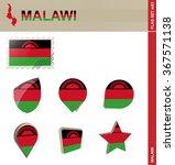 malawi flag set  flag set 83.... | Shutterstock . vector #367571138