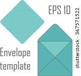square envelope template for... | Shutterstock .eps vector #367571522