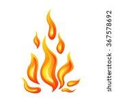 vector illustration of flame | Shutterstock .eps vector #367578692