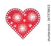 elegant red heart composed from ...   Shutterstock .eps vector #367578815