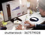 Businessman Working Dashboard Strategy Research Concept