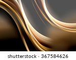 gold waves abstract dark... | Shutterstock . vector #367584626