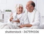 senior lovers in bed   romance... | Shutterstock . vector #367594106