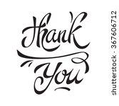 thank you handwritten... | Shutterstock .eps vector #367606712