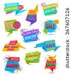 set of sale banner. vector... | Shutterstock .eps vector #367607126