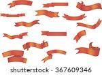 red ribbon set | Shutterstock .eps vector #367609346