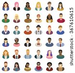 hipster people icon set | Shutterstock .eps vector #367610615