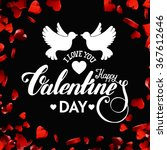 valentines day handdrawn...   Shutterstock .eps vector #367612646