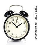 isolated vintage alarm clock | Shutterstock . vector #36761362