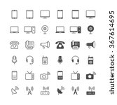 communication device icons ... | Shutterstock .eps vector #367614695