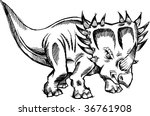 sketchy doodle triceratops...