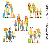 families on vacation. vector... | Shutterstock .eps vector #367637336