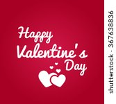 happy valentine's day vector | Shutterstock .eps vector #367638836