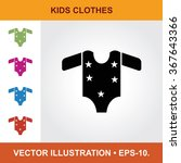 Vector Icon Of Baby Cloths Wit...