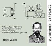 aleksandr popov  1859 1906  ... | Shutterstock .eps vector #367643672