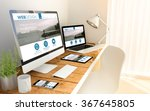 digital generated devices over... | Shutterstock . vector #367645805