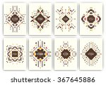 set of geometric abstract... | Shutterstock .eps vector #367645886