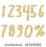 shiny golden glitter numbers.... | Shutterstock .eps vector #367650482