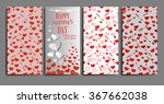 set of vertical happy... | Shutterstock .eps vector #367662038