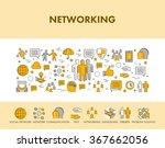 line design concept web banner... | Shutterstock .eps vector #367662056
